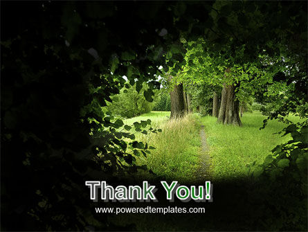 Pathway In The Forest PowerPoint Template Slide 20