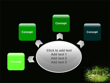 Pathway In The Forest PowerPoint Template Slide 7