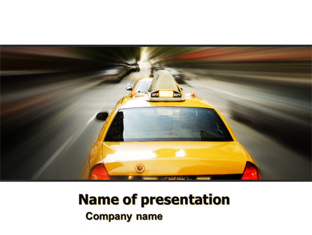 Cars and Transportation: City Taxi PowerPoint Template #05379