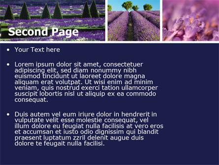 Lavender PowerPoint Template Slide 2
