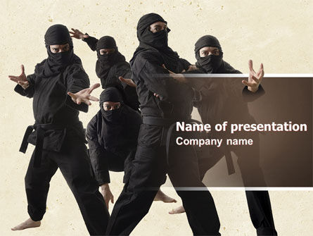 Sports: Ninja PowerPoint Template #05381