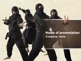 Sports: Ninja PowerPoint Template #05381