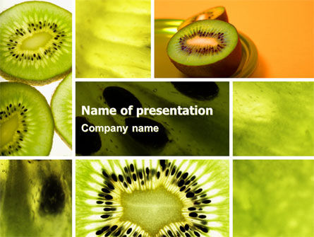 Food & Beverage: Kiwifruit PowerPoint Template #05382
