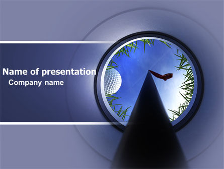 Golf Hole PowerPoint Template
