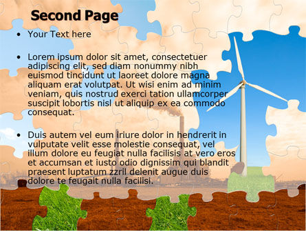 Wind Energy Versus Coal Plant PowerPoint Template Slide 2
