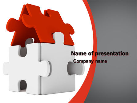 Financial/Accounting: House Puzzel PowerPoint Template #05387