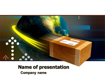 Package Delivery PowerPoint Template, 05388, Careers/Industry — PoweredTemplate.com