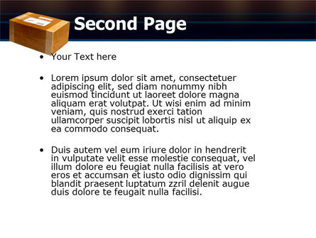 Package Delivery PowerPoint Template Slide 2