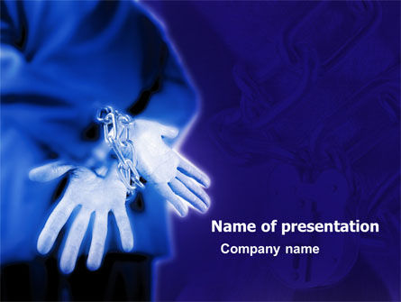 Captivity PowerPoint Template, 05389, Legal — PoweredTemplate.com