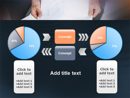 Working With Papers PowerPoint Template Slide 11