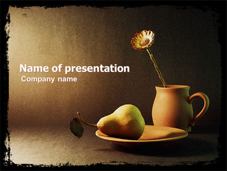 Art & Entertainment: Still Life PowerPoint Template #05397