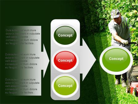 Lawn Mower PowerPoint Template Slide 11