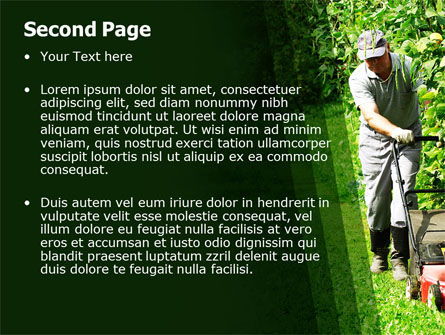Lawn Mower PowerPoint Template, Slide 2, 05399, Agriculture — PoweredTemplate.com