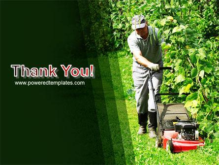 Lawn Mower PowerPoint Template Slide 20