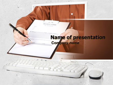 Receipt Form PowerPoint Template