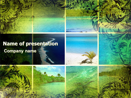 Exotic Islands PowerPoint Template, 05402, Careers/Industry — PoweredTemplate.com
