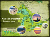 Education & Training: Great Lakes PowerPoint Template #05403