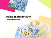 Careers/Industry: Table Bouquet PowerPoint Template #05406