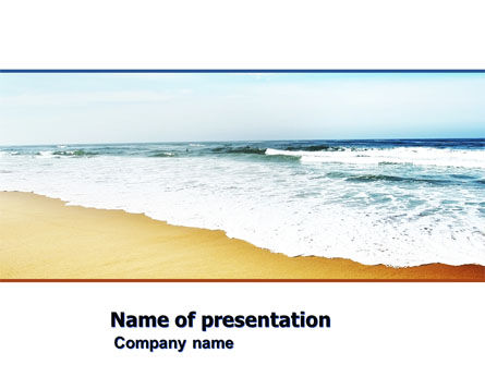 Sea Shore PowerPoint Template, 05409, Nature & Environment — PoweredTemplate.com