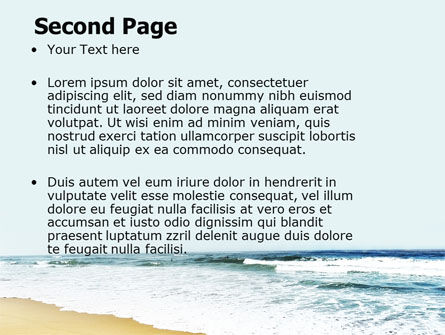 Sea Shore PowerPoint Template, Slide 2, 05409, Nature & Environment — PoweredTemplate.com