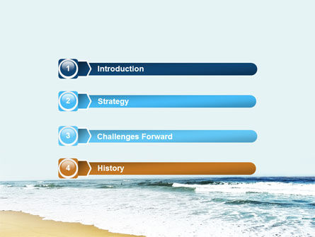 Sea Shore PowerPoint Template, Slide 3, 05409, Nature & Environment — PoweredTemplate.com