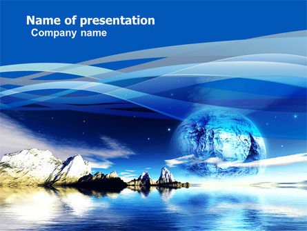 imaginary world powerpoint template, backgrounds | 05411, Modern powerpoint