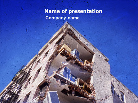 Construction: Building Damage PowerPoint Template #05413