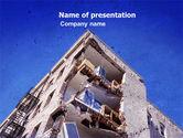 Construction: Building Damage PowerPoint Template #05413