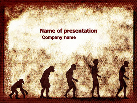 Human Development From Ape PowerPoint Template