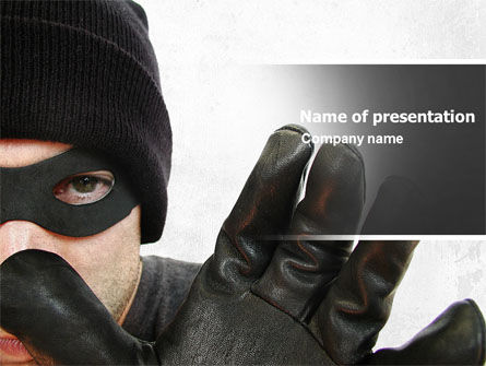 Masked Man PowerPoint Template
