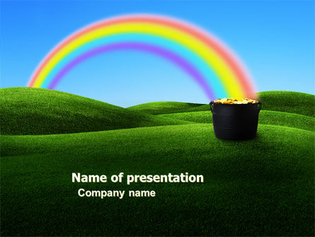 Jug of Gold PowerPoint Template, 05419, Holiday/Special Occasion — PoweredTemplate.com