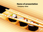 Food & Beverage: 寿司卷PowerPoint模板 #05420