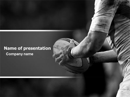Rugby Football PowerPoint Template, 05421, Sports — PoweredTemplate.com