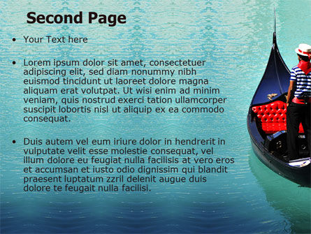 Gondola PowerPoint Template, Slide 2, 05423, Flags/International — PoweredTemplate.com