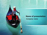 Flags/International: Gondola PowerPoint Template #05423