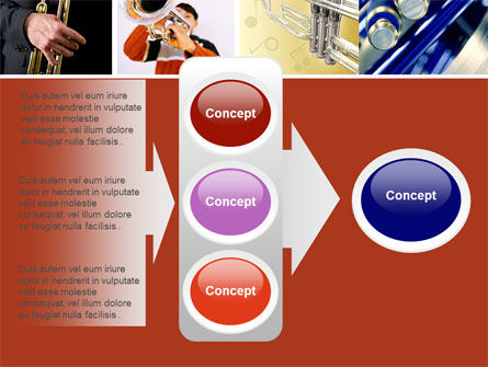 Trumpet Collage PowerPoint Template Slide 11