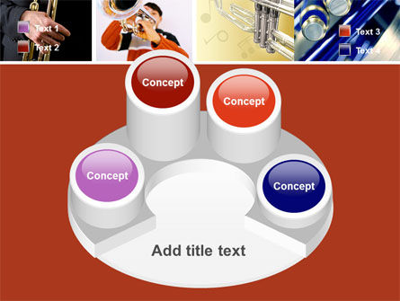 Trumpet Collage PowerPoint Template Slide 12