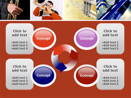 Trumpet Collage PowerPoint Template Slide 9