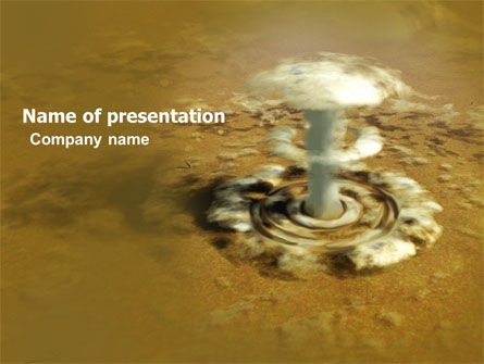 Nuclear Explosion PowerPoint Template, 05426, Military — PoweredTemplate.com