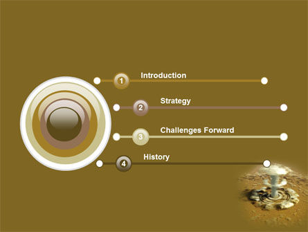 Nuclear Explosion PowerPoint Template, Slide 3, 05426, Military — PoweredTemplate.com