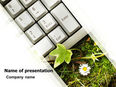 Utilization PowerPoint Template, 05427, Computers — PoweredTemplate.com