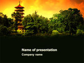 Flags/International: Pagoda PowerPoint Template #05428