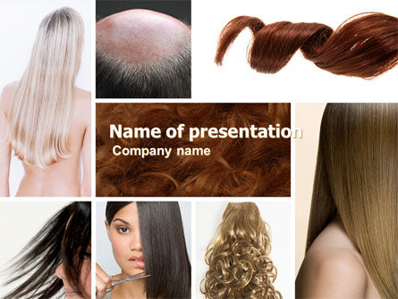 Hairstyle PowerPoint Template, 05429, Careers/Industry — PoweredTemplate.com