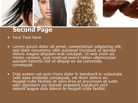 Hairstyle PowerPoint Template, Slide 2, 05429, Careers/Industry — PoweredTemplate.com