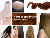 Careers/Industry: Hairstyle PowerPoint Template #05429