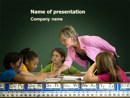 Class Teaching PowerPoint Template, 05430, Education & Training — PoweredTemplate.com