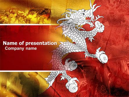 Bhutan PowerPoint Template, 05431, Flags/International — PoweredTemplate.com