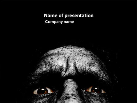 People: Fear PowerPoint Template #05432