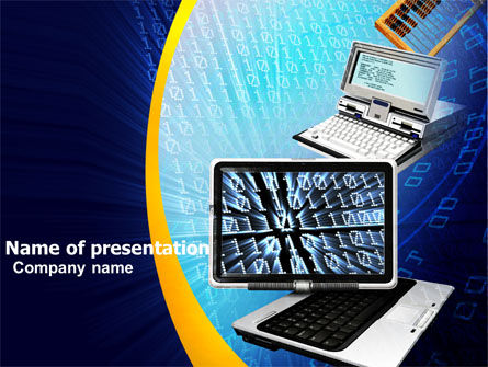 Development of Computing Technology PowerPoint Template, 05434, Computers — PoweredTemplate.com