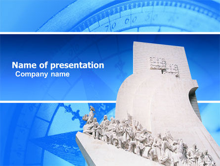 Monument to Discoveries PowerPoint Template, 05436, Holiday/Special Occasion — PoweredTemplate.com